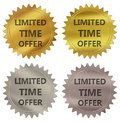Limited time offer guarantee label Royalty Free Stock Photo