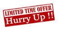 Limited time offer hurry up Royalty Free Stock Photo
