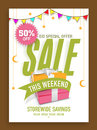 Limited time sale poster, banner or flyer for Eid celebration. Royalty Free Stock Photo