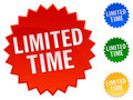 Limited Time Stickers Royalty Free Stock Photography