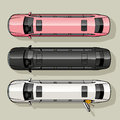 Limo set three long luxury limousine for special occasions Stock Images