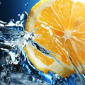 Limon in water Royalty Free Stock Photo