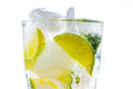 Limonade beverage on the white background Stock Photography