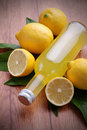 Limoncello, Italian liqueur Stock Photos