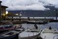 Limone del Garda, Marina night view. Color image Royalty Free Stock Photo