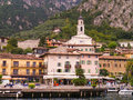 Limone on lake garda italy is one of the lovely towns this in northern is a popular european tourist destination situated Stock Photos