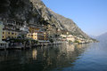 Limone sul garda at lake in lombardy italy Stock Photos
