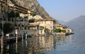 Limone sul garda at lake in lombardy italy Royalty Free Stock Photo