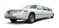 Long white limousine Royalty Free Stock Photo