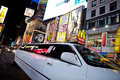 Limousine in Times Square Stock Photo