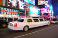 Limousine in Times Square, New York City Royalty Free Stock Images