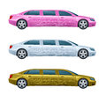 Limousine on a white background Royalty Free Stock Images