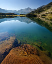 Limpid lake in the pirin mountain Stock Images