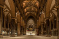 Lincoln cathedral england the main nave of the the church of the blessed virgin mary of this gothic church was the Royalty Free Stock Photos