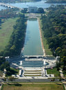 Lincoln memorial aerial photo of in spring Stock Image