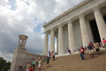 Lincoln memorial july in the washington Royalty Free Stock Photos