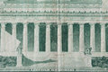 Lincoln Memorial on old five dollar note Royalty Free Stock Photo