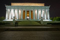 The lincoln memorial in washington dc at night with a long exposure Royalty Free Stock Photos