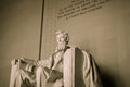 Lincoln memorial in washington dc statue Royalty Free Stock Image