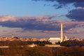 Lincoln memorial washington monument and us capitol washington dc panoramic view of from the iwo jima Stock Photo