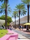 Lincoln road uma rua famosa da compra em miami beach Foto de Stock Royalty Free