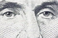 Lincoln's Eyes Extreme Macro US Five Dollar Bill Royalty Free Stock Photography
