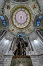 Lincoln statue in kentucky capitol of abraham erected the rotunda of the state building frankfort Stock Photo