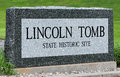 Lincoln tomb a sign marking s in springfield illinois Royalty Free Stock Photo
