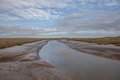 Lincolnshire salt marsh marshes neer tetney Royalty Free Stock Image