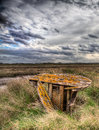 Lincolnshire salt marsh marshes neer tetney Stock Photos