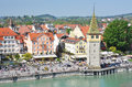Lindau island germany port of Stock Image