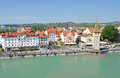 Lindau island germany port of Royalty Free Stock Image