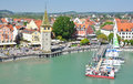 Lindau island germany port of Royalty Free Stock Photos