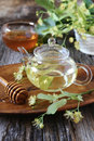 Linden tea and honey