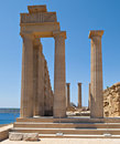 Lindos acropolis Royalty Free Stock Photos