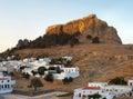 Lindos Acropolis, Rhodes, Greece Stock Photos