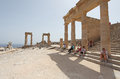 Lindos Acropolis Rhodes island, Greece Royalty Free Stock Photo