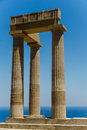 Lindos relics from the ancient town of greece Royalty Free Stock Photo