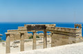Lindos ruins of the ancient town of greece Royalty Free Stock Photos
