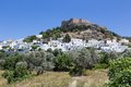 Lindos town in rhodes greece Royalty Free Stock Image