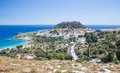 Lindos town in rhodes greece Royalty Free Stock Photos