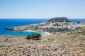 Lindos town in rhodes greece Stock Image
