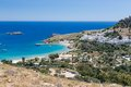 Lindos town in rhodes greece Royalty Free Stock Photography