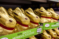 Lindt easter bunnies chocolate for sale Stock Photos