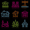 Line architectural icons Royalty Free Stock Photo