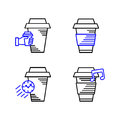 Line art icon, Coffee Cup Icon, Food Outlin Drink, Coffee icon. Vector line art icon