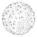 Line art sphere construction drawing Royalty Free Stock Photo