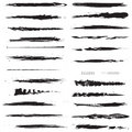 Line brushes Royalty Free Stock Photography