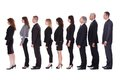 Line of business people in profile Royalty Free Stock Photo