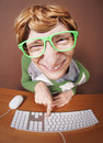 On-line chatting Stock Photos